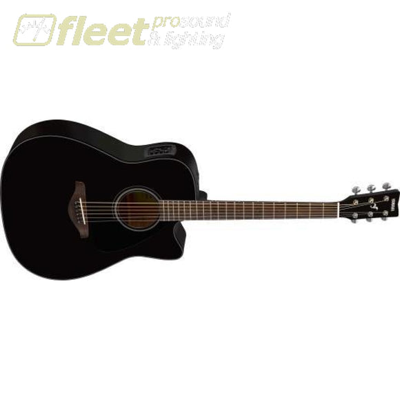 Yamaha FGX800C Solid Spruce Top Dreadnought Acoustic Guitar w/ Electronics - Black 6 STRING ACOUSTIC WITH ELECTRONICS