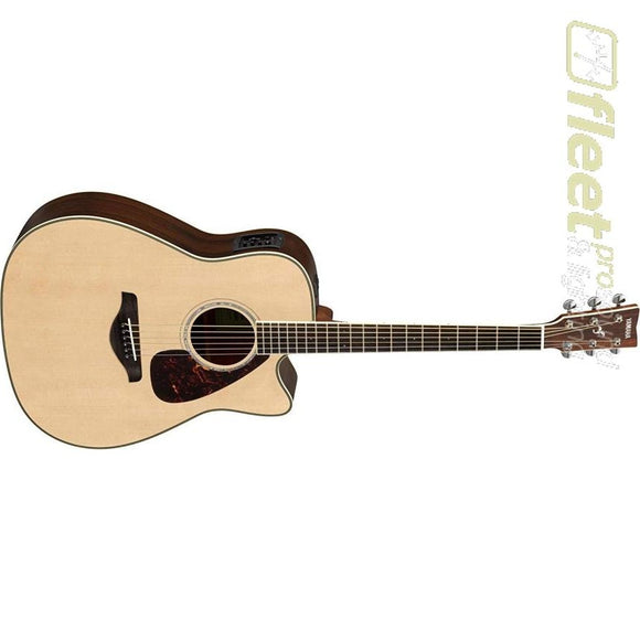 Yamaha FGX830C Cutaway Acoustic Guitar Spruce Top Rosewood Back & Sides - Natural 6 STRING ACOUSTIC WITH ELECTRONICS
