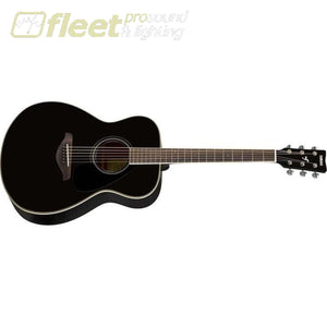 Yamaha FS820 BL Solid Spruce Top Acoustic Small Body Guitar - Black Finish 6 STRING ACOUSTIC WITHOUT ELECTRONICS
