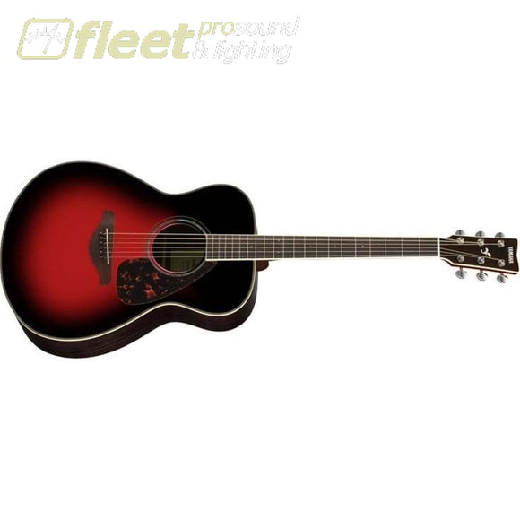 Yamaha FS830 DSR Solid Spruce Top Acoustic Small Body Guitar - Dark Sun Red Finish 6 STRING ACOUSTIC WITHOUT ELECTRONICS