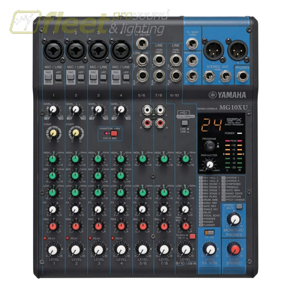 Yamaha MG10XU 10 Channel MG Series Mixer MIXERS UNDER 24 CHANNEL