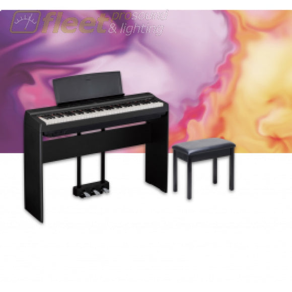 Yamaha P121PKG-B 73-Note Weighted Digital Piano Package - Black DIGITAL PIANOS