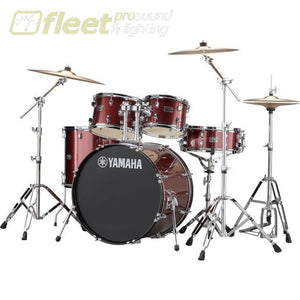 Yamaha Rydeen Rdp2F56Wcbgg 5-Piece Drum Kit W/ Hardware & Cymbals - Burgundy Glitter Acoustic Drum Kits