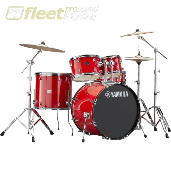 Yamaha Rydeen Rdp2F56Wcrd 5-Piece Drum Kit W/ Hardware & Cymbals - Hot Red Acoustic Drum Kits