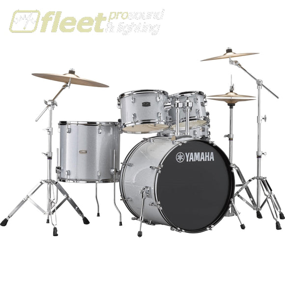 Yamaha Rydeen Rdp2F56Wcslg 5-Piece Drum Kit W/ Hardware & Cymbals - Silver Glitter Acoustic Drum Kits