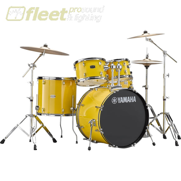 Yamaha Rydeen Rdp2F56Wcyl 5-Piece Drum Kit W/ Hardware & Cymbals - Yellow Acoustic Drum Kits