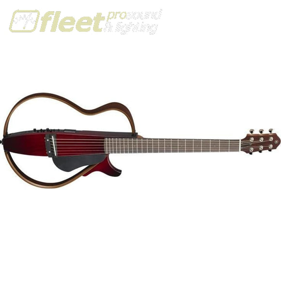 Yamaha SLG200S CRB Steel String Silent Guitar - Crimson Reb Burst HOLLOW BODY GUITARS