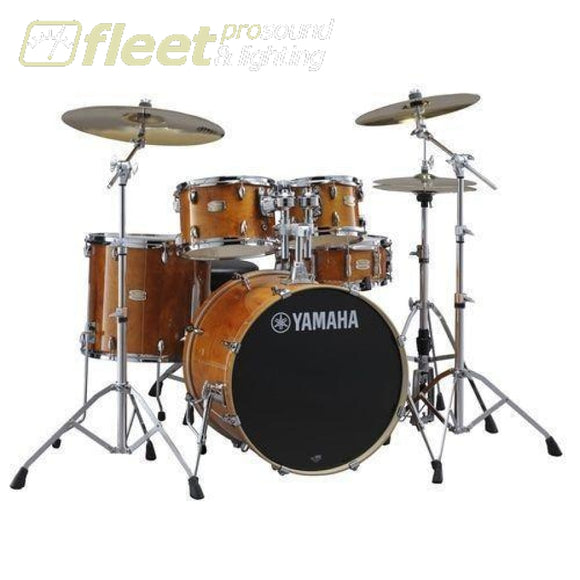 Yamaha Stage Custom SBP2F50 HA Shell Pack Kit - Honey Amber ACOUSTIC DRUM KITS