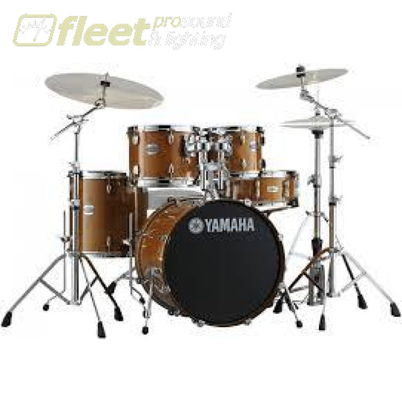 Yamaha Stage Custom SBX0F56 HA 5-Piece Drum Kit w/Hardware - Honey Amber ACOUSTIC DRUM KITS