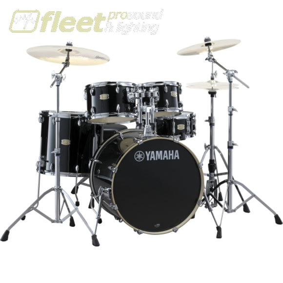 Yamaha Stage Custom SBX0F56 RB 5-Piece Drum Kit w/Hardware - Raven Black ACOUSTIC DRUM KITS