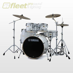 Yamaha Stage Custom SBX0F57 PW 5-Piece Drum Kit w/Hardware - Pure White ACOUSTIC DRUM KITS