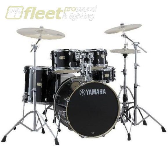Yamaha Stage Custom SBX0F57RB 5-Piece Drum Kit w/Hardware - Raven Black ACOUSTIC DRUM KITS
