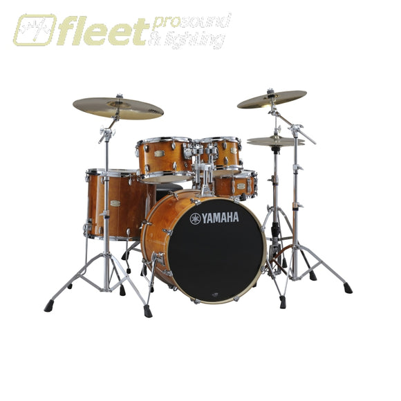 Yamaha Stage Custom SBX2F56HA Birch 5-Piece Drum Kit w/Hardware - Honey Amber ACOUSTIC DRUM KITS