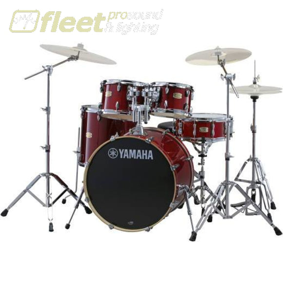 Yamaha Stage Custom SBX2F57 CR 5-Piece Drum Kit w/Hardware - Cranberry Red ACOUSTIC DRUM KITS