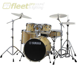 Yamaha Stage Custom SBX2F57 NW 5-Piece Drum Kit w/Hardware - Natural Wood ACOUSTIC DRUM KITS
