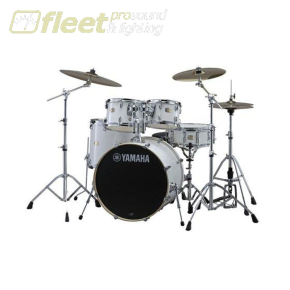 Yamaha Stage Custom SBX2F57 PW 5-Piece Drum Kit w/Hardware - Pure White ACOUSTIC DRUM KITS
