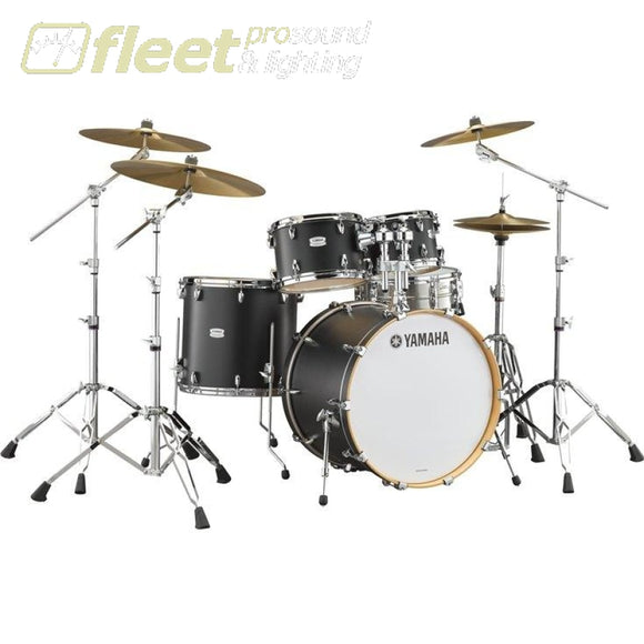 Yamaha Tmp247Rlslcs Tour Custom Shell Pack & Hardware - Licorice Satin Acoustic Drum Kits