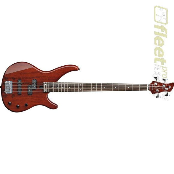 Yamaha TRBX174EW RTB Exotic Wood 4-String Bass - Root Beer Finish 4 STRING BASSES
