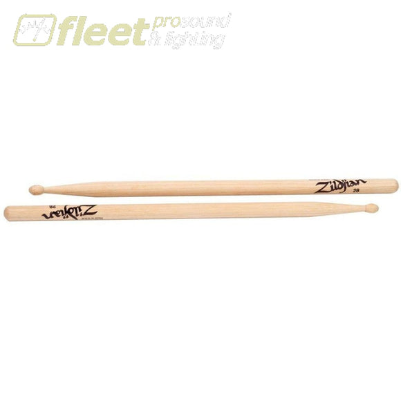 Zildjian 2Bwn 2B Wood Tip Drum Sticks Sticks
