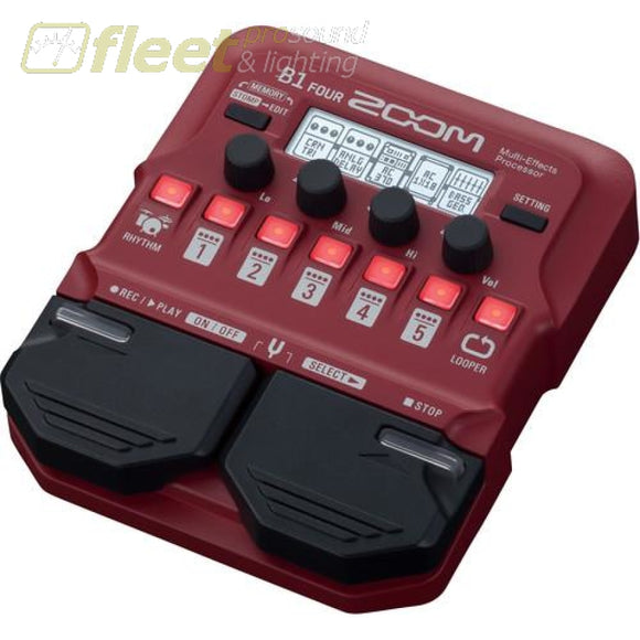 Zoom B1FOUR Multi-Effects Processor BASS FX PEDALS