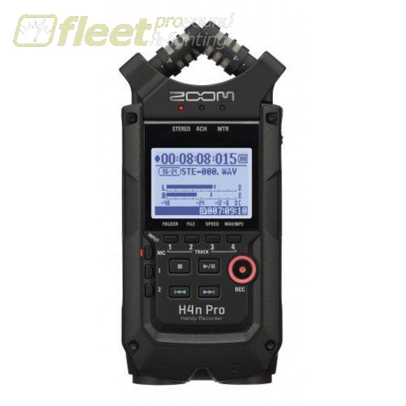 Zoom H4NPROAB 4-Channel Handy Recorder - All Black PORTABLE RECORDERS
