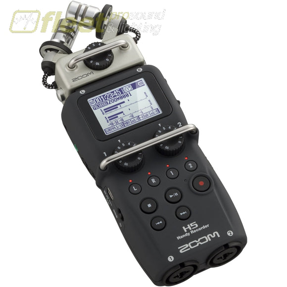 Zoom H5 Handy Recorder With Interchangeable Input Capsules Portable Recorders