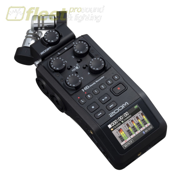 Zoom H6 ALL BLACK Handy Recorder PORTABLE RECORDERS