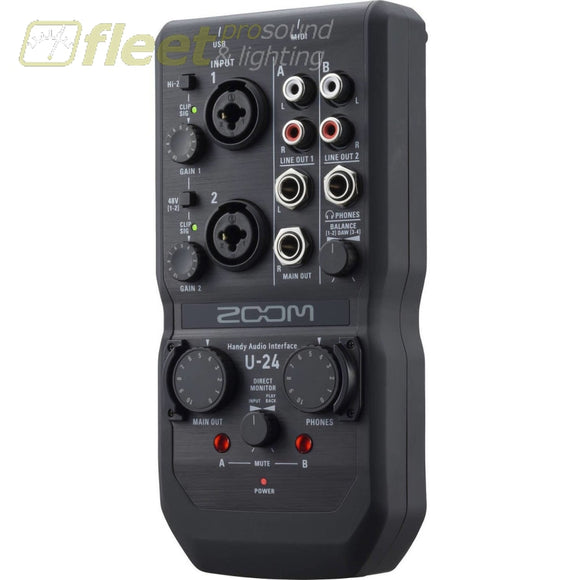 Zoom U-24 Portable Audio Interface Usb Audio Interfaces