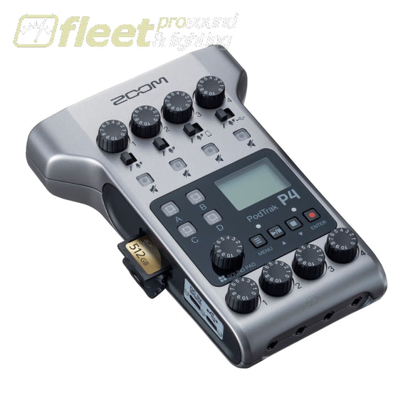 Zoom PodTrak P4 Ultimate Recorder for Podcasting PORTABLE RECORDERS