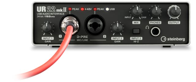 Steinberg UR22MKII 2 x 2 USB 2.0 audio interface with 2 x D-PRE and 192 kHz support