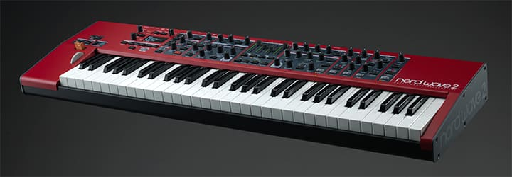 NORD NORDWAVE2 performance synthesizer combining Virtual Analog synthesis Samples FM and Wavetable with an intuitive layer-focused