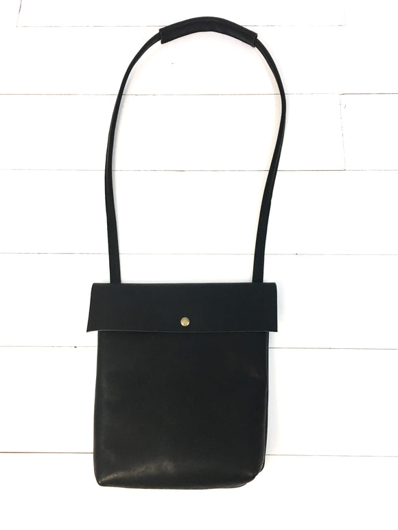 Modern black crossbody