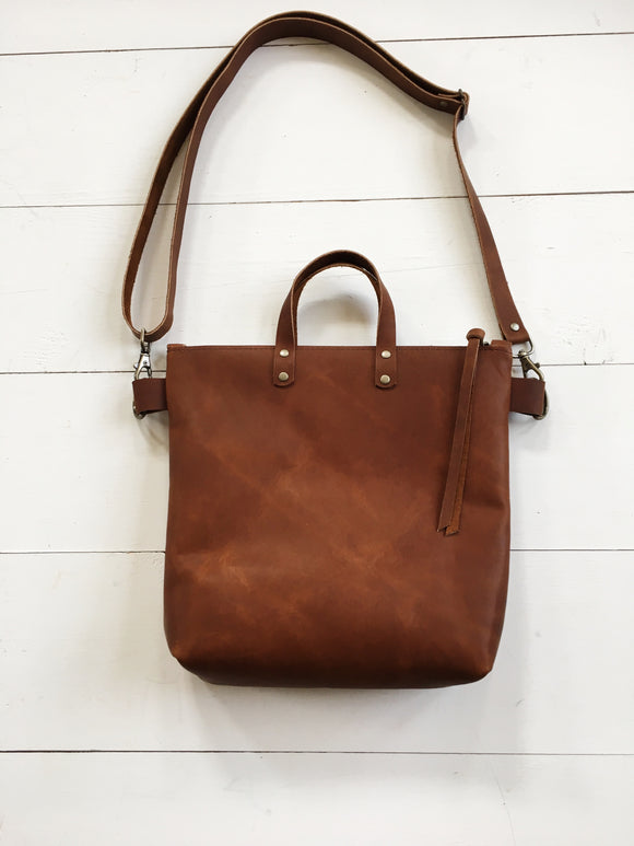Brown Crossbody Bag with Handles