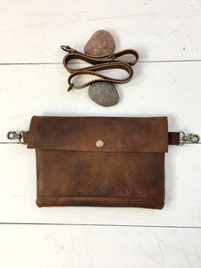 Simple brown hip bag