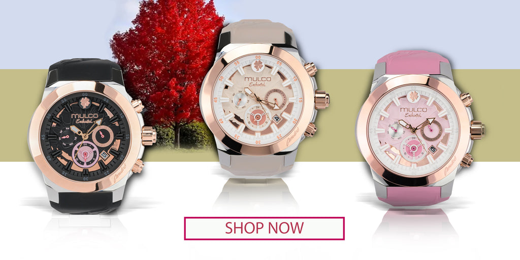 Women watches rosegold accent
