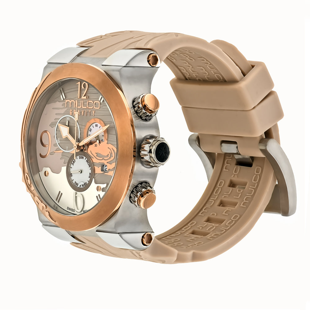 Ladies Watches | Mulco Gravity Jupiter | Mixed textures | BeigeReverse