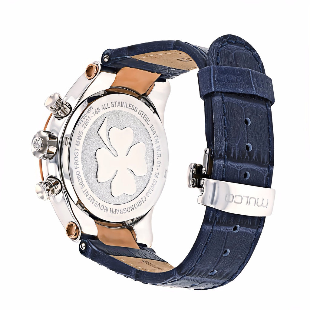 Ladies Watches | Mulco Frost Ladies | Blue Genuine Italian leather