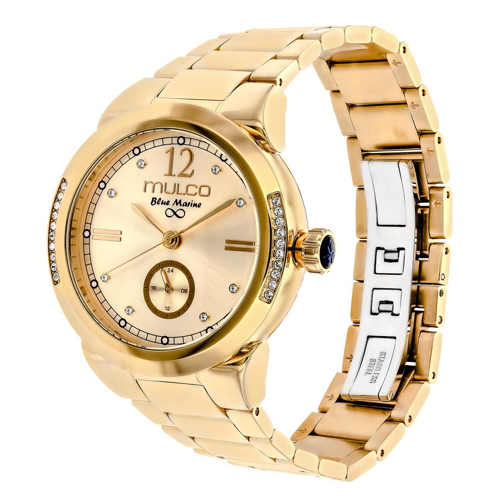 Womens Watches | Mulco Blue Marine Metal | Swarovski | GoldReverse