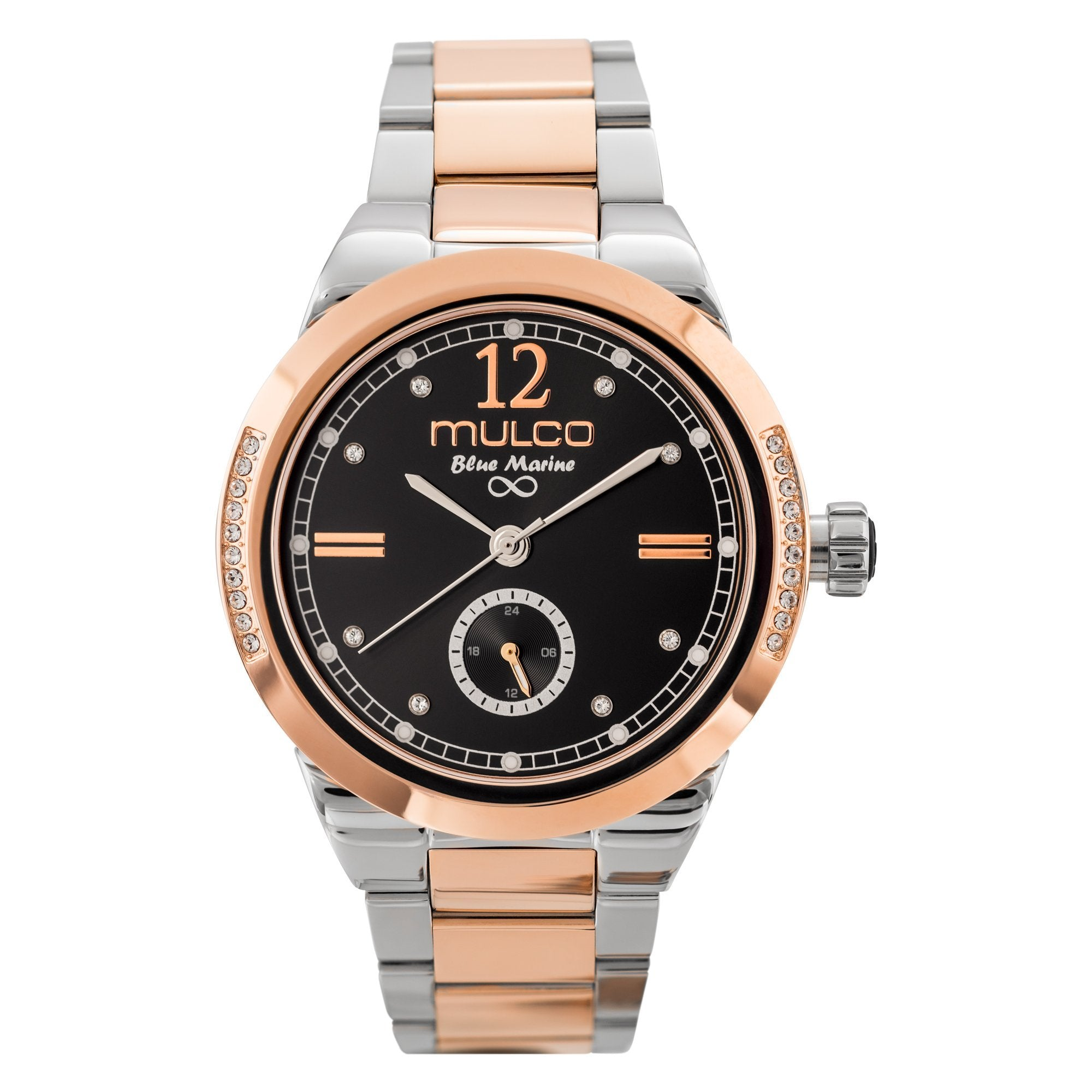 Womens Watches | Silver and Rose Gold Stainless Steel Band | Rose Gold accents| Water Resistant