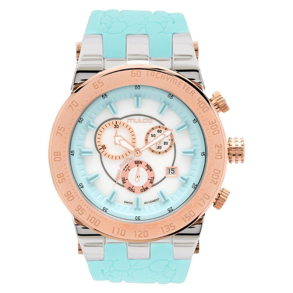 Ladies Watches | Turquoise Silicone Band | Rose Gold accents | Water Resistant