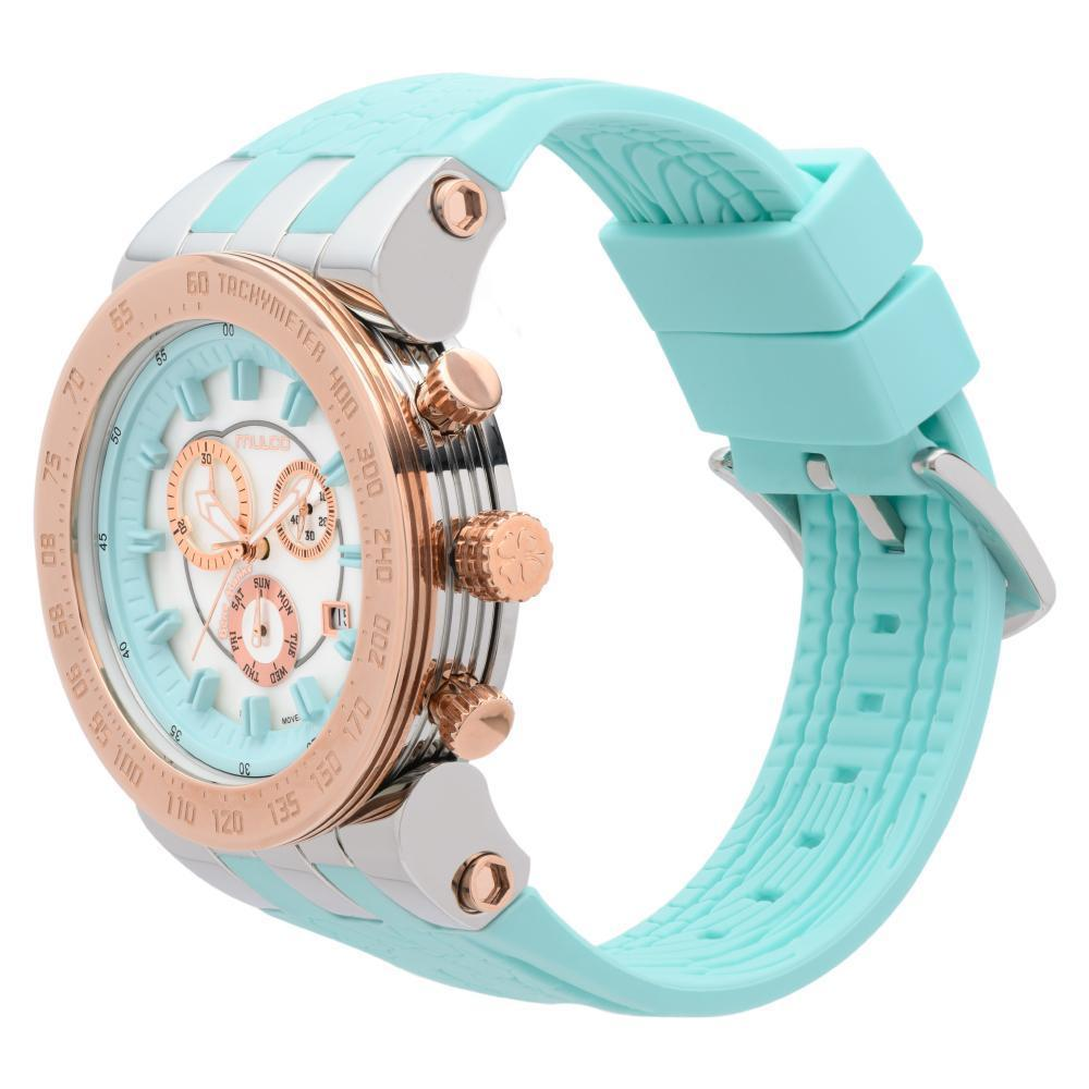 Ladies Watches | Mulco Blue Marine Trio | Stainless Steel | TurquoiseReverse