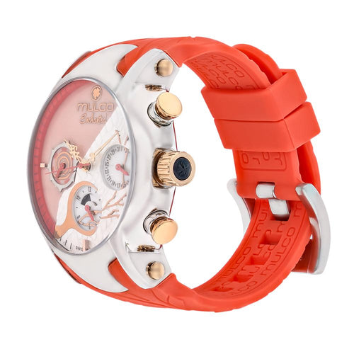Ladies Watches | Mulco Ladies Watches | Mulco Enchanted Woods | Coral Silicone Band Woods | Stainless Steel