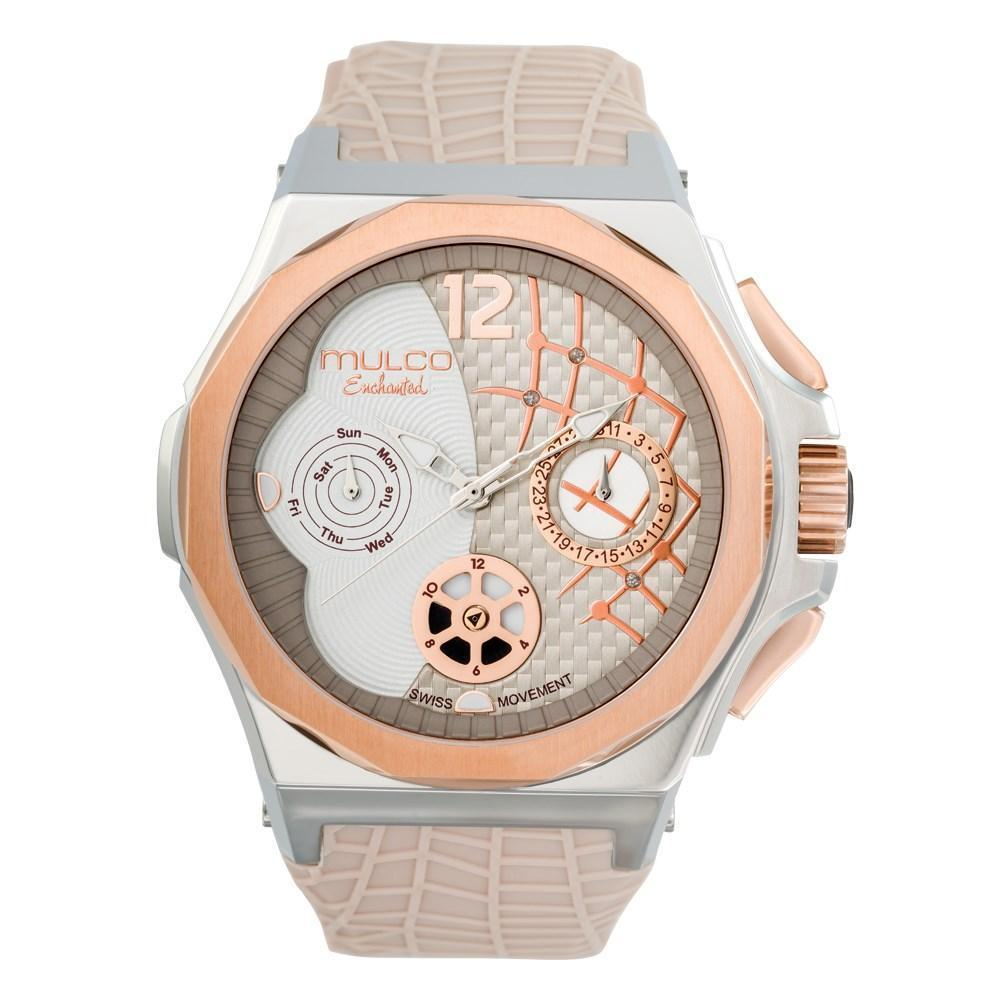 Ladies Watches | Beige Silicone Rubber Band | Rose Gold accents| Water Resistant