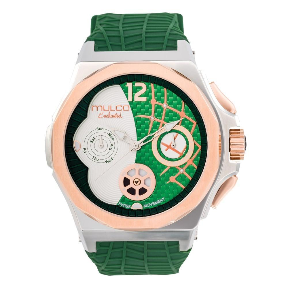 Ladies Watches | Green Silicone Rubber Band | Rose Gold accents| Water Resistant
