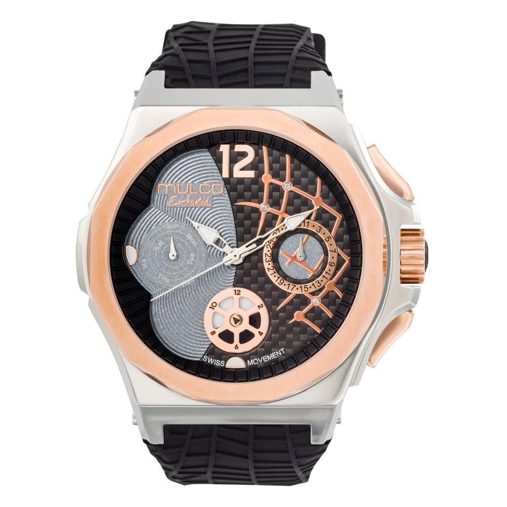 Ladies Watches | Black Silicone Rubber Band | Rose Gold accents| Water Resistant