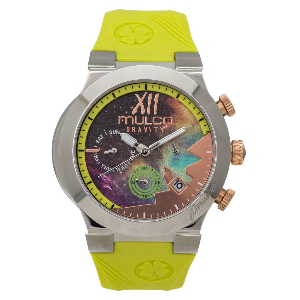 Ladies Watches | Neon Green Silicone Band | Rose Gold accents | Water Resistant
