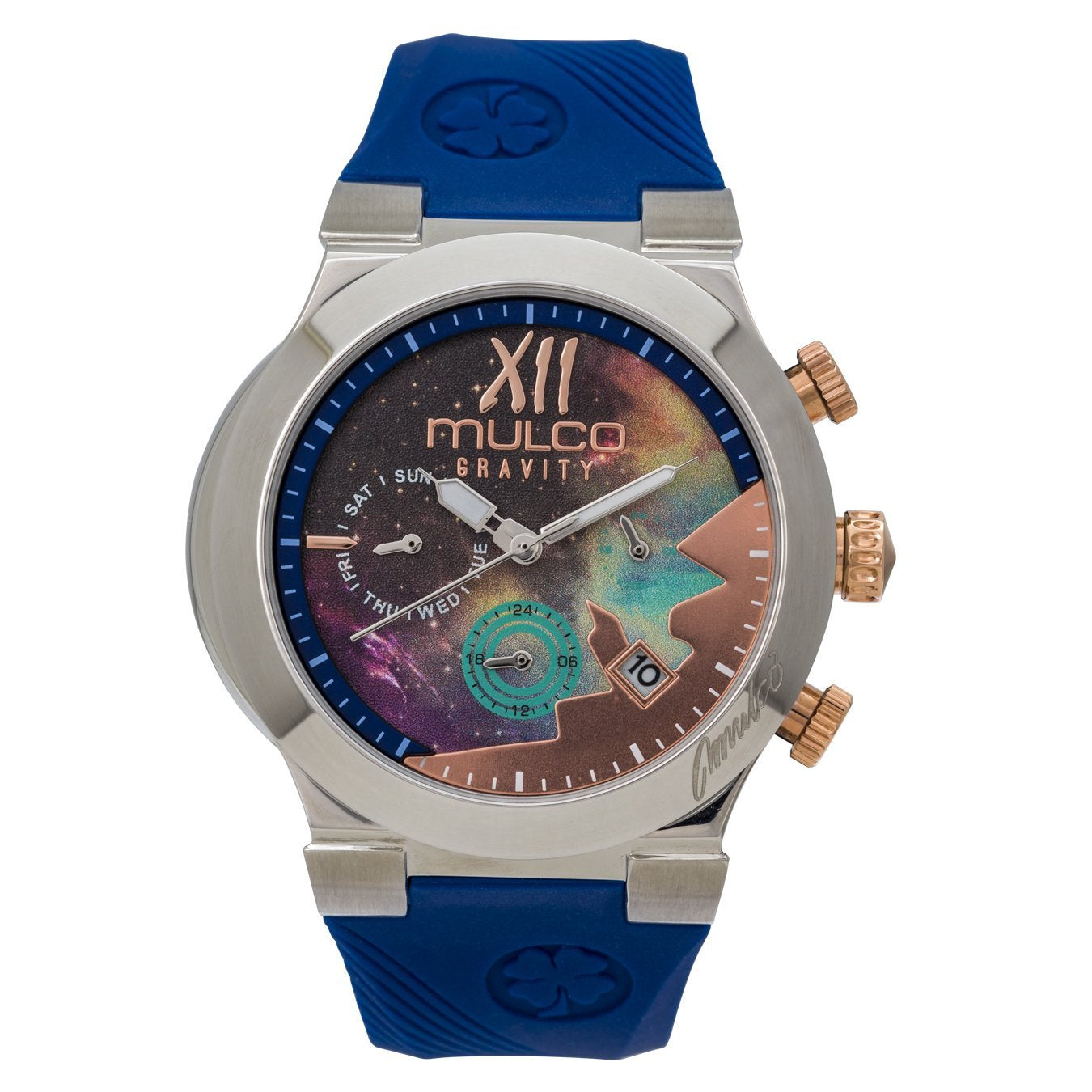 Ladies Watches | Blue Silicone Band | Rose Gold accents | Water Resistant
