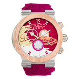 Ladies Watches | Plum Purple Silicone Band | Rose Gold accents | Water Resistant