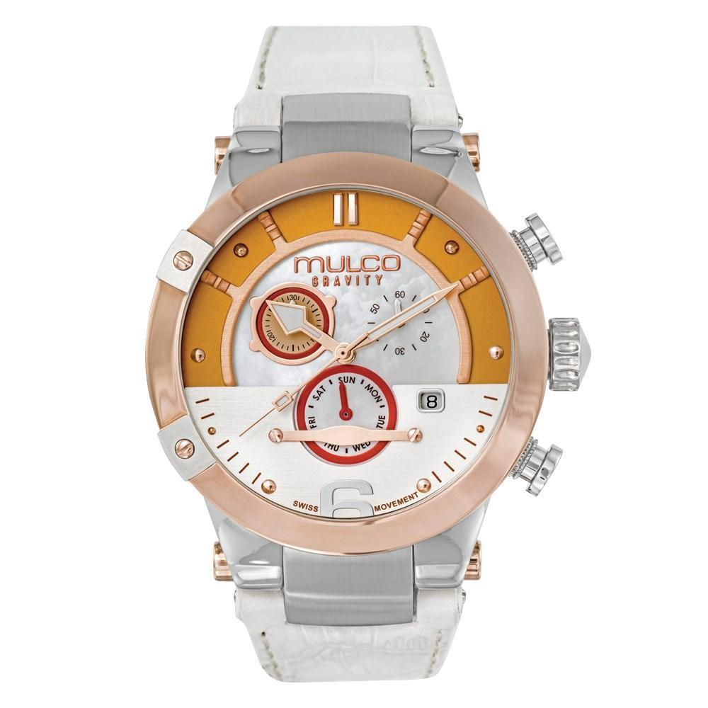 Womens Watches | White Leather Band | Rose Gold accents | Water Resistant