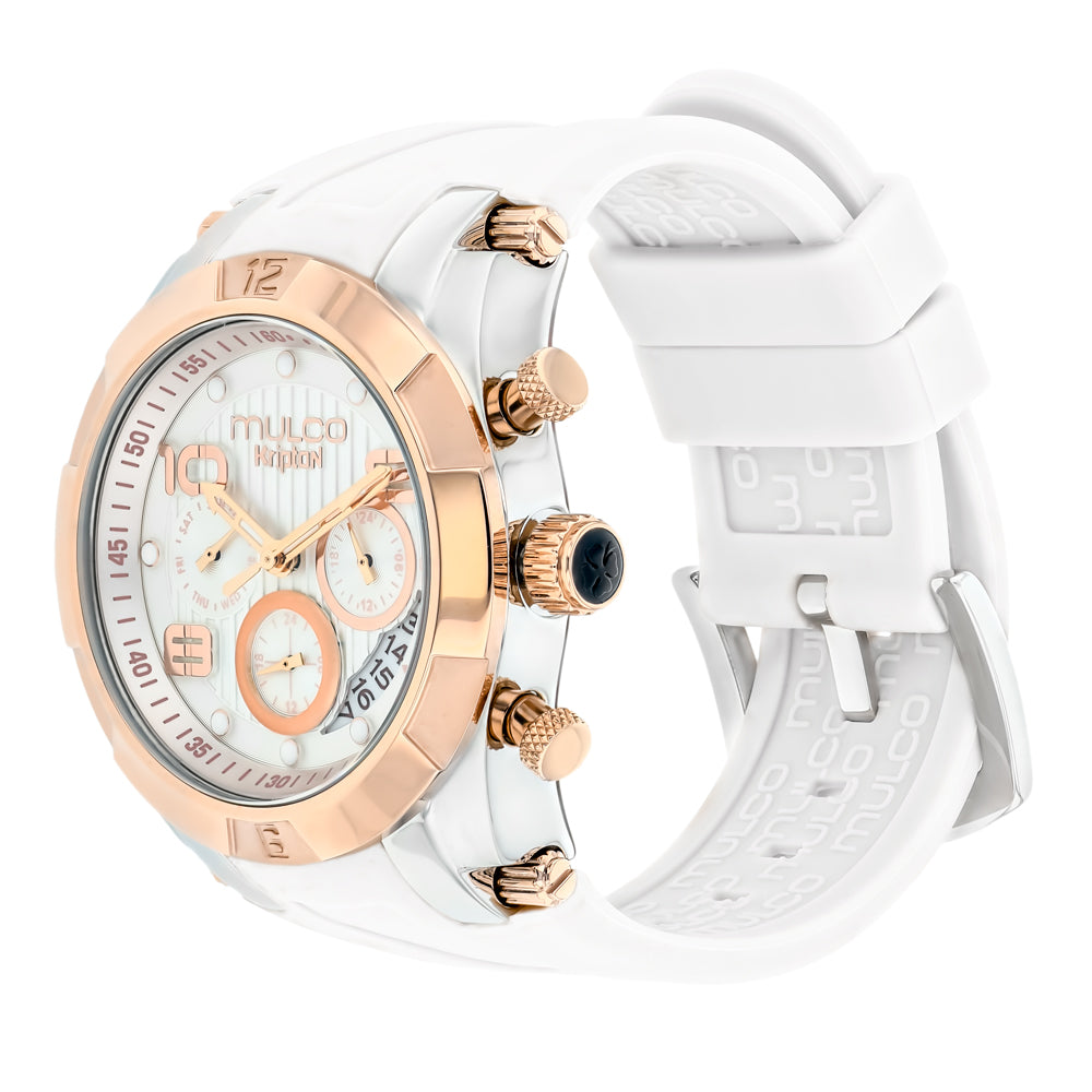Ladies Watches | Mulco Kripton Lady | Special Pattern Texture | WhiteReverse